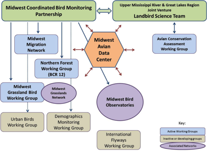 relationships between the landbird portions of the Midwest Working Group: