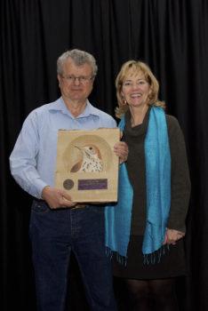 Greg Butcher receiving 2016 PIF Lifetime Achievement Award